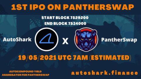 Autoshark le premier IPO sur pantherswap